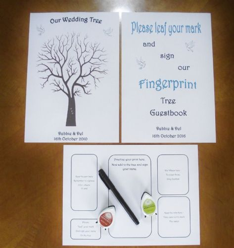 Thumbprint Fingerprint tree and sign